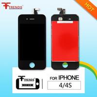 Pour iPhone 4/4 CDMA / 4S Écran LCD Écran tactile Numériseur Montage complet Écrans complets Pièces de réparation de remplacement Expédition gratuite