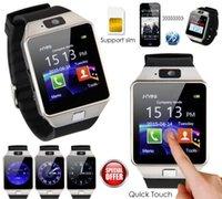 2016 Nouvelle montre intelligente dz09 Avec appareil photo Bluetooth Montre-bracelet Carte SIM Smartwatch pour Ios Téléphones Android Support Multi langues