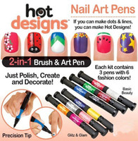 Hot Designs 2 in 1 Glitz and Glam Nail Art Pens Salon Polish...