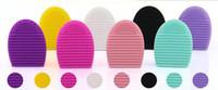 brushegg huevo guante de la limpieza del maquillaje del cepillo de lavado depurador Junta cosmética Brushegg cepillo cosmético del huevo 7colors