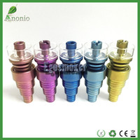 Colorful Domeless Titanium Nail With Quartz Carb Cap Titaniu...
