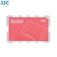 Gros-JJC MSD10CN carte de crédit Taille Léger caméra portable Memory Card Case Bag Case Holder + inscriptibles étiquette pour 10 cartes Micro SD