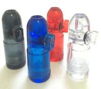 Snuff Bullet Bouteille Snorter Snuff Rocket Sniff Distributeur Snuff Snorter et plastique Snuff tuyaux Bouteille fumeurs