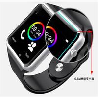 Relojes elegantes de la tarjeta del SIM TF de la ayuda SIM del teléfono del smartwatch del reloj elegante A1 con la correa Smartphone del silicón envío libre