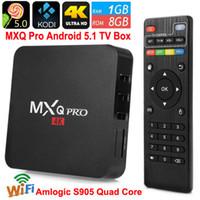 S905 MXQ Pro 4K TV Box Quad Core Android 5.1 DDR3 1G Вспышка Nand 8G HDMI 2.0 WIFI Коди XBMC Box Smart TV Box Media Player