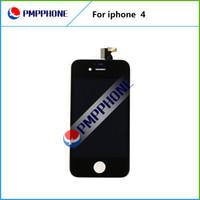10 pièces / lot Écran LCD de Freeshipping avec le remplacement en verre de numériseur d'écran tactile pour l'iPhone 4 4g