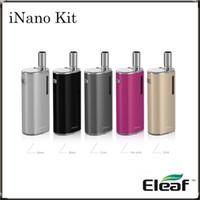 Eleaf iNANO Kit 650 Capacité mAh batterie minuscule e-Cigarette Kit iNANO avec un atomiseur Inséré par connecteur magnétique sur-the-go KIT100% Original