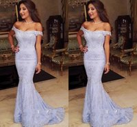 2017 New Elegant Mermaid Prom Dresses Off Shoulder Lace Applique Andar Comprimento Runaway Red Carpet Vestidos Festa formal Evening Gowns