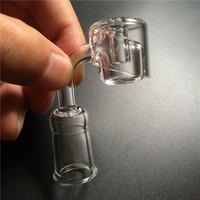 4mm d'épaisseur banger de quartz bouchon de carb dabber avec 10mm 14mm 18mm 45 degrés 90 degrés clou de quartz masculin féminin domeless pour bong en verre