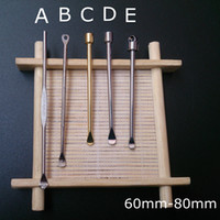 Wax dabber outils cire atomiseur style 5 or couleur argent 60mm à petit outil jar dab 80mm court vaporisateur d'herbe sèche pour vape