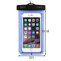 boîtier étanche 2016 l'eau universel pour samsung galaxy s7 s6 Iphone 5 6 6S Plus, sac de téléphone portable à sec sac de téléphone imperméable à l'eau