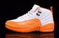 Womens dan 12 Retro Basketball Shoes White Orange Green Blue...