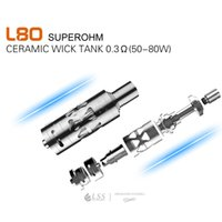 Authentic 2016 LSS L80 Ceramic Wick Sub Tank Atomizer With 0...
