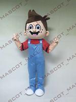 MALL108 Deluxe Cartoon Custom- made Cute Boy Mascot Costume C...