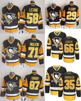 2016 Home Pittsburgh Penguins Mens 58 Kris Letang 87 Sidney ...