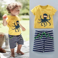 1- 6 years 2016 summer new European and American boys octopus...
