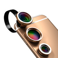 dodocool universale 3-in-1 Clip-On 180 ° Fisheye + 0.67X grandangolare + 10X Macro Camera Phone Kit Lens DA49