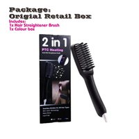 New Arrival Straight Comb Auto LCD Brush Hair Straightener B...