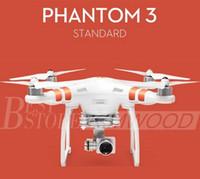 100% authentique DJI Phantom 3 UAV Professional / Advanced / Stardard Quadcopter Drone avec 4K / HD Video Camera Top qualité shipout en 1 jour