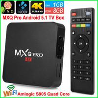 2016 Горячие Wifi 4K TV BOX MXQ Pro S905 64-разрядный Quad Core Android 5.1 Airplay Коди 15,2 Miracast Smart TV плеер
