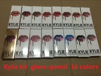Latest 16colors KYLIE lipgolss JENNER LIP KIT kylie lip line...
