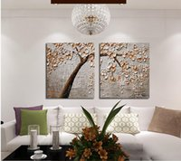 cheap 100 hand painted by artist oil painting on canvas pachira picture wall painting for living room hotel home decorationno frame