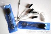 Wholesell Mini tuyaux d'eau de brosse de nettoyage brosse en verre tube de nettoyage des outils pour les accessoires de fumer avec 5 pcs mis livraison gratuite