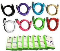 Prix d'usine !!! Pas cher pour le câble de synchronisation de date USB 1.2M 4FT Câble de chargeur le plus chaud pour 4 à 6plus Téléphone Android avec le paquet de détail DHL shipping