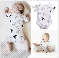 2016 Infant Baby Paper Crane Printed Rompers Toddler Boys Gi...