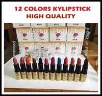 Новый макияж Kylie Дженнер матовая помада 12 цветов высокого качества фабрики сразу Свободная перевозка груза