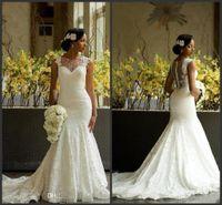 Сексуальная русалка шнурка Нигерийские Модест Дизайнерские Часовня Свадебные платья 2017 года Свадебные Дешевые Страна Свадебные платья