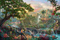 Книга джунглей HD Печать Оригинал Холст, масло высокого качества домашнего декора стены, Multi размер, свободная перевозка груза, обрамленное