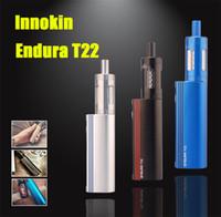 100% Original Innokin Endura T22 Starter Kit 2000mAh 14W Batterie 2.5ml Top Fill atomiseur en verre Réservoir boîte-cadeau DHL TZ693 gratuit