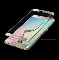 DHL 50pcs samsung S7 protecteurs d'écran de bordure 3D curved verre trempé 9H anti-rayures protecteurs d'écran de téléphone cellulaire avec le paquet au détail