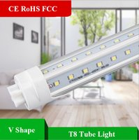 CE RoHS FCC 4ft 8ft T8 V shape LED Tube Lights 32w 65W Bulbs...
