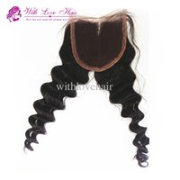 Fashion Deep Wave Lace Closure Middle Part Indian Human Hair...
