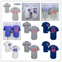 Chicago Cubs #41 John Lackey Baseball Jerseys 17 Kris Bryant...