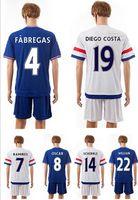 15- 16 Chelsea home blue soccer uniform away white thai quali...