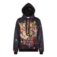 Wholesale- 2016 new 3d hoodies for women men print tiger leop...
