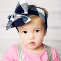 2016 Toddlers Plaid Headwear Infant Baby Girl Cotton Bow Hea...