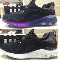 Cheap discount Trainers Alphabounce 330 B42351 Black Purple ...