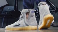 Kanye 750 Boost Gum Glow in Dark Light Grey Men and Women Hi...