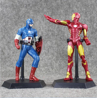20- 22cmThe Avengers Captain America Iron Man PVC Action Figu...
