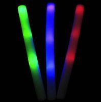 50pcs Foam Glow- sticks NEW Colorful Light Sponge Sticks Elec...