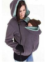 Горячая Мода Многофункциональный мать с капюшоном свитер куртка осень и зима Женщины пальто младенца Carry