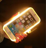 2016 Luxury Световая телефон Дело селфи трудный случай крышки с светодиодные для iPhone 6 6S Plus 4.7 / 5.5-дюймовый iPhone 5S / SE с розничной коробкой DHL