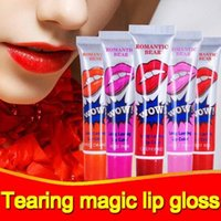 Romantic Bear Lip Gloss Nutritious Lipstick Makeup Peel- off ...