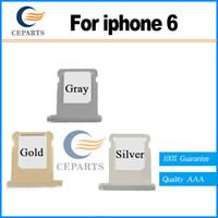Nouveau arrivé Hight qualité gris doré carte SIM plateau Slot Holder remplacement pour iPone 6 carte SIM de remplacement