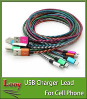 Tube de connecteur en métal non brisé Nylon tressé Micro USB Câble Cordon de chargeur pour Samsung S6 bord S5, téléphone Android HTC 1M 2M 3M
