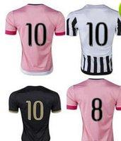 Thailand Quality ! 15- 16 Juventus Home Away Soccer Uniform F...